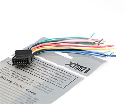 xtenzi car radio wire harness compatible with pioneer dvd navigation in dash xt1603 21