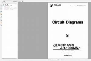 Tadano Mobile Crane Ar-1000m-1 Circuit Diagrams