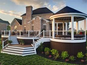 Beautiful Two Level Deck by Decks Raised Vs Grade Level Hgtv