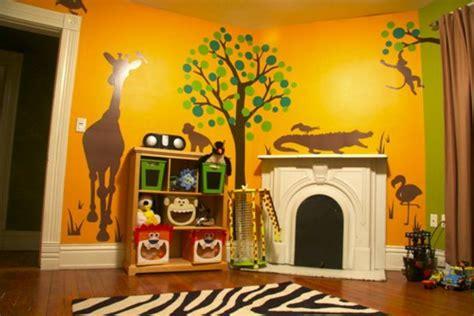 Wandgestaltung Kinderzimmer Orange by 28 Coole Fotos Vom Dschungel Kinderzimmer Archzine Net