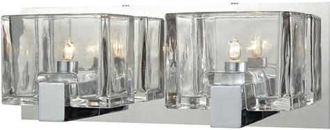 Halogen Bathroom Light Fixtures by Elk 11961 2 Ridgecrest Contemporary Polished Chrome