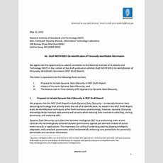 Anonos Nist Comment Letter  Deidentification Of Personally Identifi…