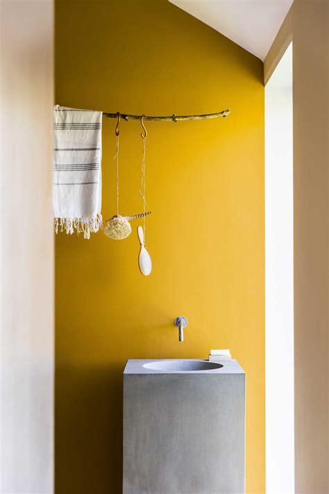 Wand Gelb Streichen by Badkamer Wastafel Beton Geel Interior Inspiration