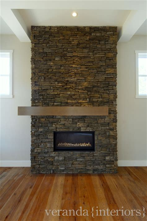 stone fireplace   set mantle contemporary
