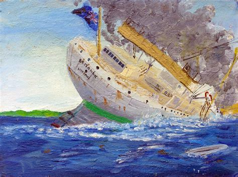 sinking of the britannic 2 by rhill555 on deviantart