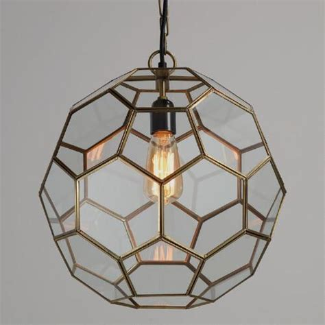 honeycomb shape glass pendant