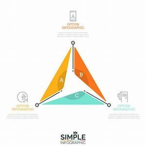 Diagramme Triangulaire Divis U00e9 En 3 Secteurs De Lettres Et