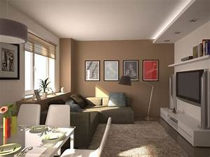 Wohnzimmer Einrichten Farben : kleines wohnzimmer mit essbereich modern einrichten beige ~ Lizthompson.info Haus und Dekorationen