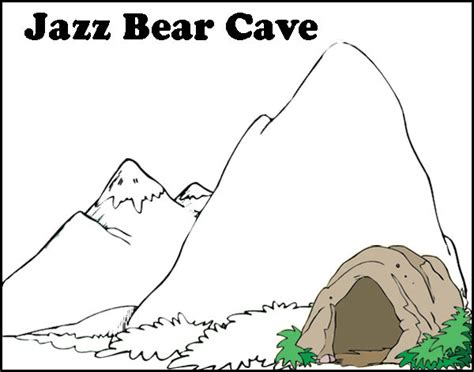 Caving Colouring Pages