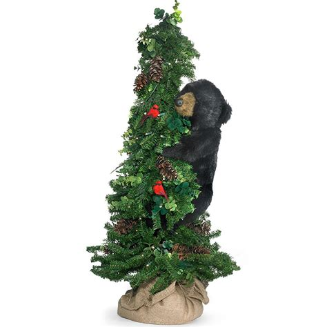 climbing black bear  tree christmas decorations