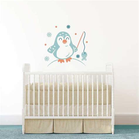 stickers chambre b b garcon sticker mural quot pingouin quot motif bébé garçon pour chambre