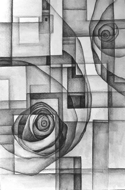 Abstract Drawing Using Shapes by Value Drawing Abstract Geo Design Shade With A