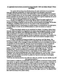 Creative Essay On Brave New World by Brave New World Use Of Technology To Society Essay