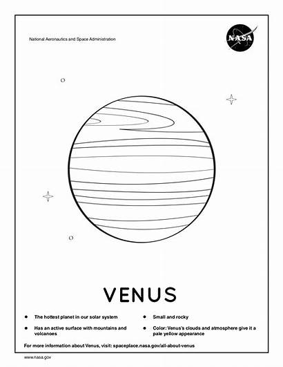 Coloring Solar System Space Printable Sheets Venus