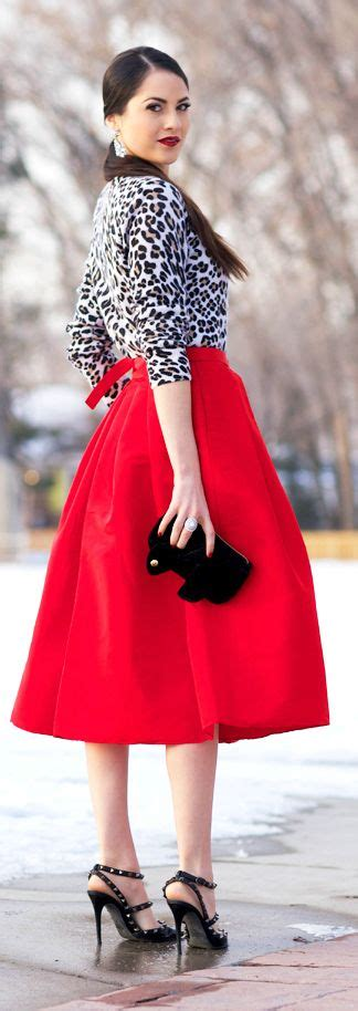 Red Skirts 5 Ways - Skirt Outfits - Skirt Fixation