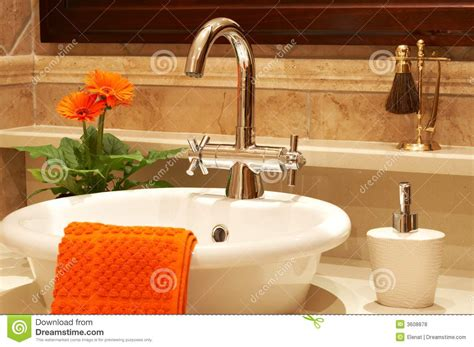 Beautiful Sink In A Bathroom Royalty Free Stock Photos