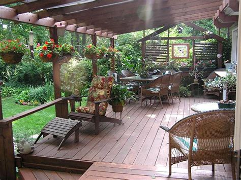 ideas for patios decks using an automatic plant watering