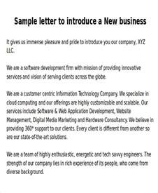 New Business Introduction Letter Samples