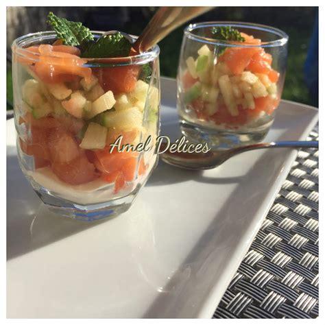 saumon boursin cuisine verrines saumon pomme boursin amel délices