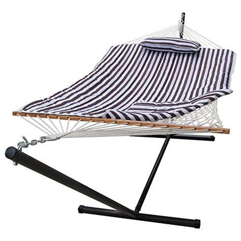 12 foot hammock stand sundale outdoor stripe cotton rope hammock with 12