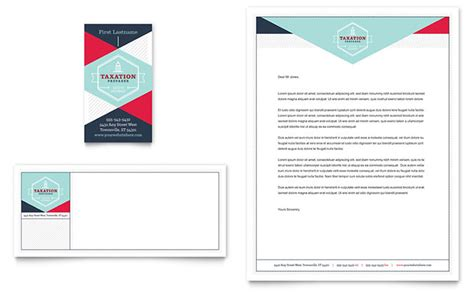 tax preparer business card letterhead template word