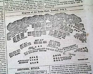 3 Civil War Diagrams Seven Days Battles 1862 Newspaper