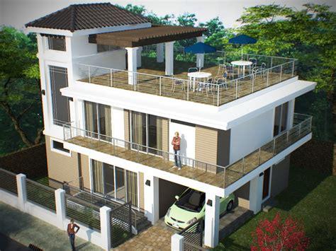 rooftop deck design storey roof deck bantay ilocos sur home plans blueprints 34612