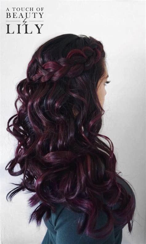deep burgundy hair color ideas  pinterest