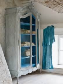 Armoire Bleu by Annie Sloan Paint Tutorial The Distressed Armoire