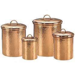 copper canisters kitchen copper canister set decor hammered 843