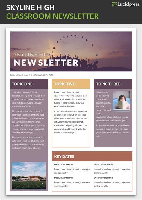 enewsletter template design 13 best newsletter design ideas to inspire you lucidpress