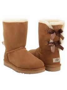 womens ugg boots with bows on the back ugg australia 39 s bailey bow boot in chestnut