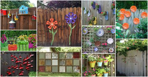 diy ideas fun backyard fence decorations   love