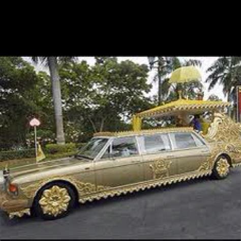 gold plated car that belongs to the sultan of brunei