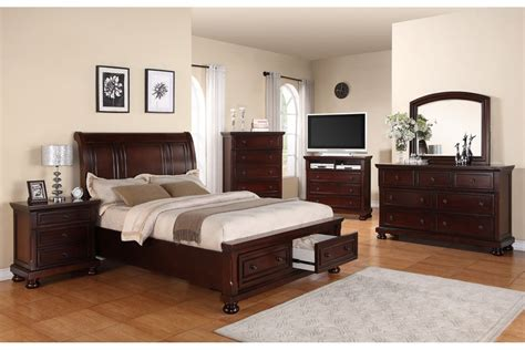 Bedroom Sets Peter Cherry Full Bedroom Set