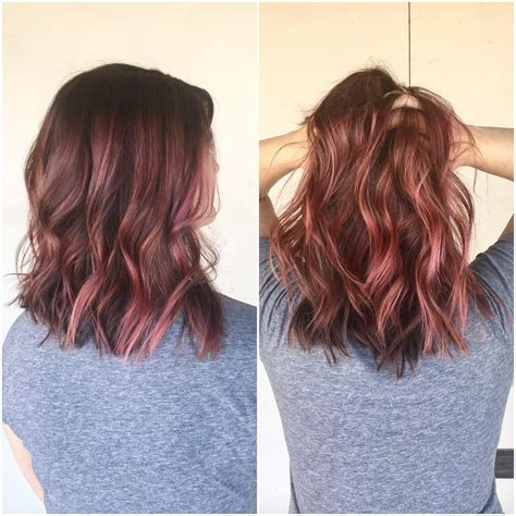 Dusty Rose With Pink Streaks Hair Pinterest Hair