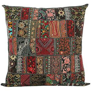Large Accent Pillows by 20x20 Large Decorative Vintage Throw Pillow Embroidered