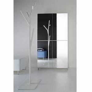 armoire porte manteau gallery of meuble chaussure avec With porte d entrée alu avec colonne miroir salle de bain leroy merlin