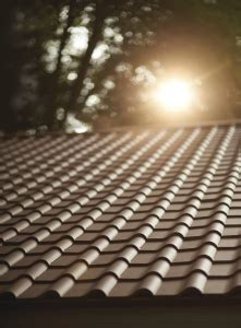 metal resembles clay and wood roofing