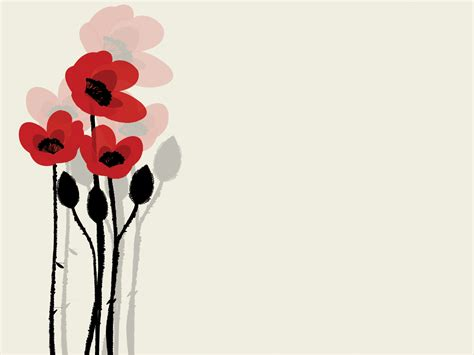 summer poppy flowers powerpoint templates black flowers