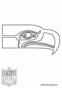 Seattle Seahawks Logo Nfl Coloring Pages Pigskin