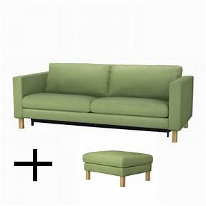ikea karlstad sofa bed and footstool slipcovers sofabed With karlstad sofa bed
