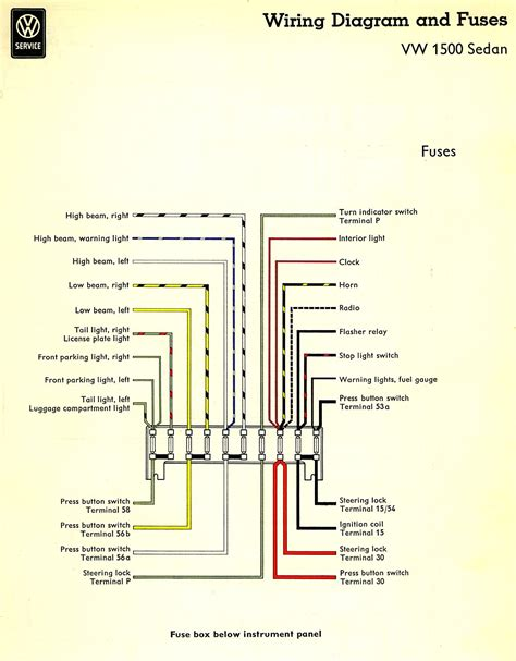 1962 Beetle Fuse Box by Thesamba Type 3 Wiring Diagrams