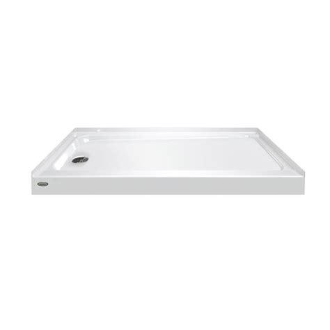 30 x 60 shower base shop primo white acrylic shower base common 30 7326