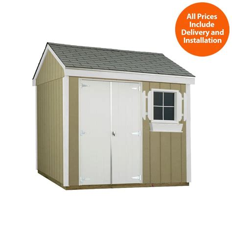 home depot storage sheds installed suncast cedar and resin vertical shed wrs4200 the home depot