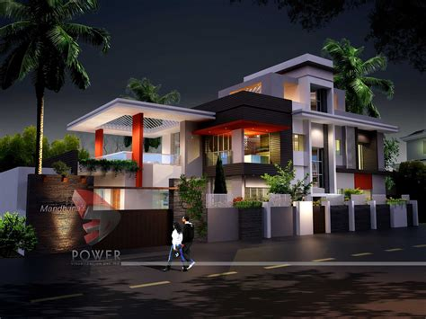 Modern Mediterranean Decor by 3d View With Plan Kerala Home Design And Floor Plans House