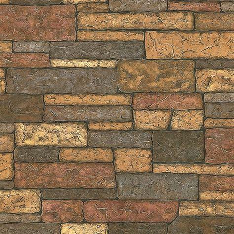 madeline brown stone texture wallpaper  brewster