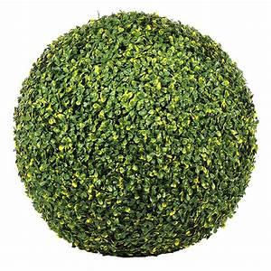 Boule De Buis : boule de buis artificielle 45 cm vert et jaune ebay ~ Melissatoandfro.com Idées de Décoration