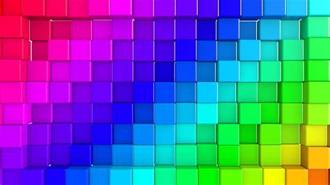 rainbow cubes wallpaper fhd by kacpers on deviantart