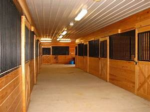 Horse Stables With Chandeliers
